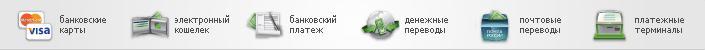 способы оплаты индивидуальных экскурсий в Санкт-Петербурге и пригородах - баннер способов оплат